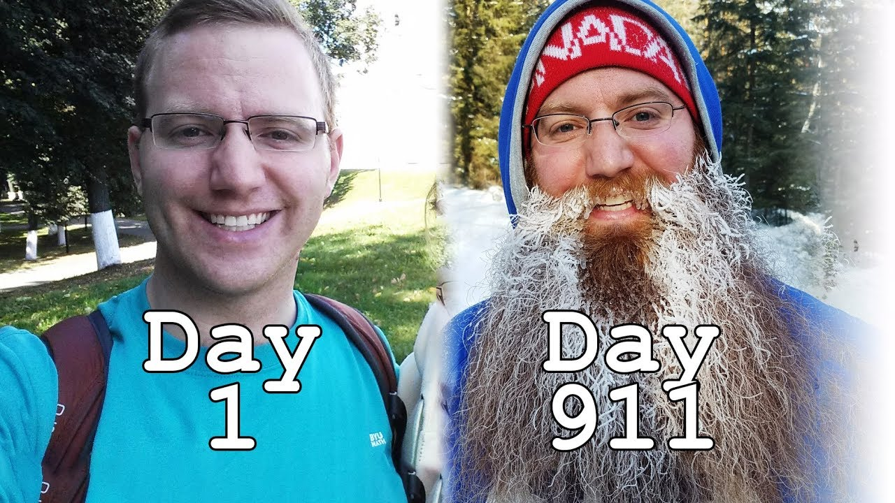 OF BEARD GROWTH TIME LAPSE - ROUND THE WORLD TRIP