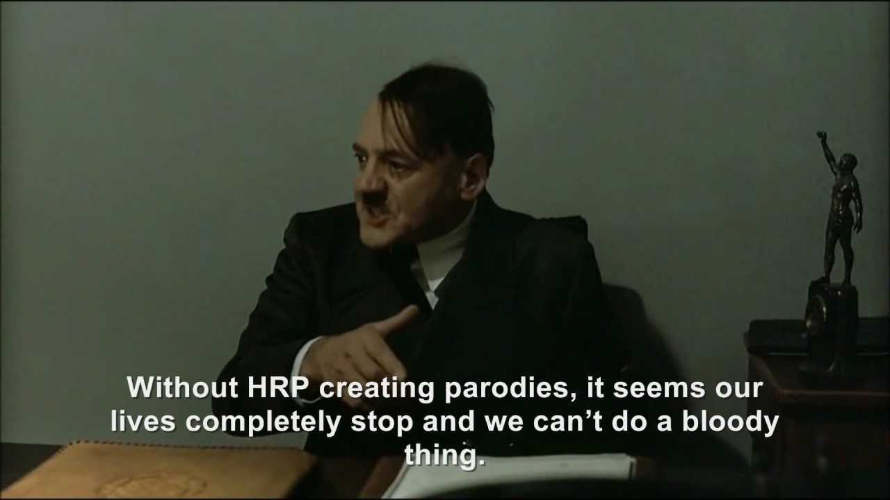 Hitler is informed Hitler Rants Parodies has returned