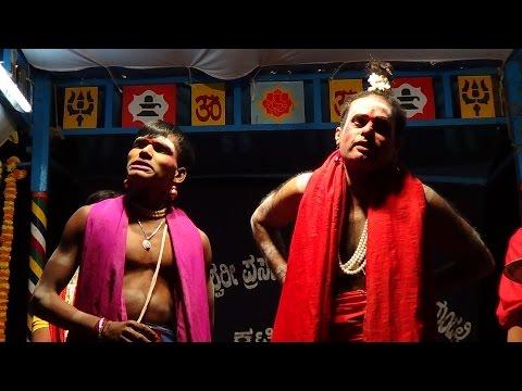Yakshagana -- Kateel kshetra Mahatme - 5 - Hasya: Bhagavatharu Ramachandra -  Chende Lokesh -  Maddale Girish -  Ravishankara bhat Valakkunja as Guru -  Lokesh muchur as Shishya -  Shri kateel 4th Melada kalavidaru -  Held at Madavu ,on 14.1.2016