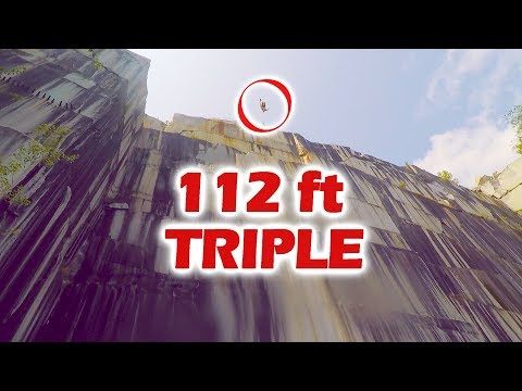 VERMONT CLIFF JUMPING 112 ft TRIPLE