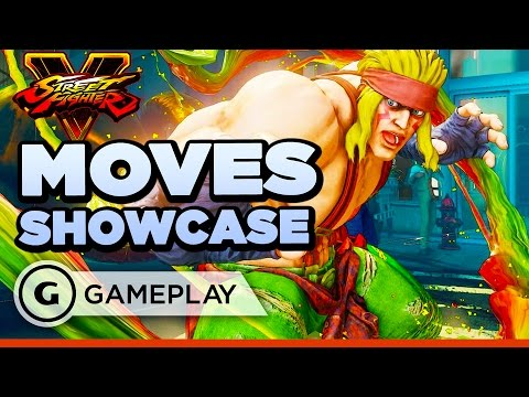 Alex's Moves and Specials - Street Fighter V Gameplay