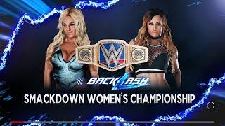 Backlash 2018 - Carmella Vs Charlotte For The Smackdown Womens Title - WWE 2K18