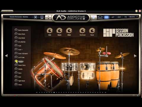 Addictive Drums 2 ADpak Session percussion