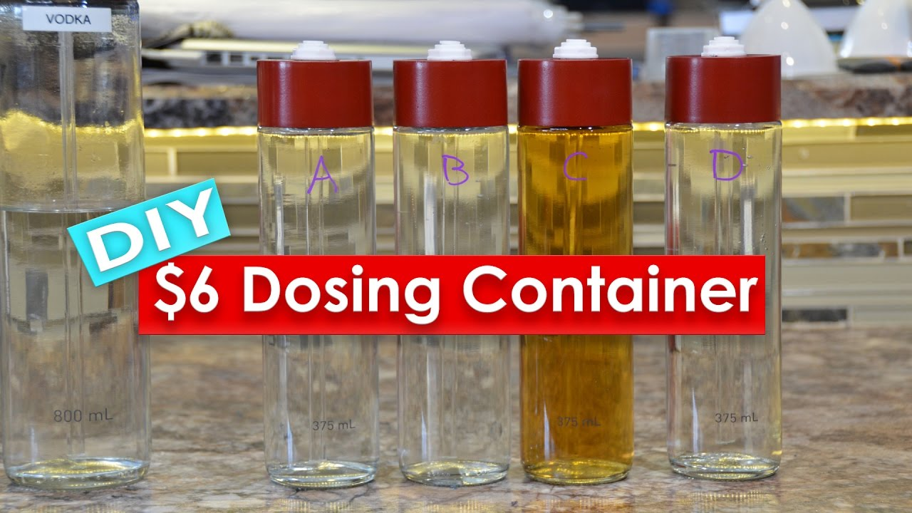 DIY $6 Dosing Container from a VOSS Water bottle - How To Build A DIY  Aquarium Dosing Container