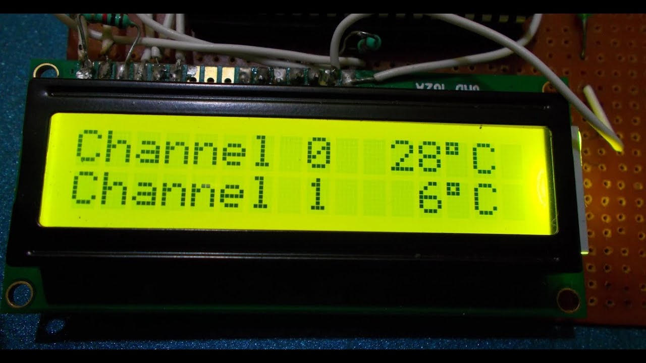 Simple And Easy To Make Dual Digital Thermometer With Avr Atmega16 Circuit Diagram Detailed Diy Tutorial Youtube