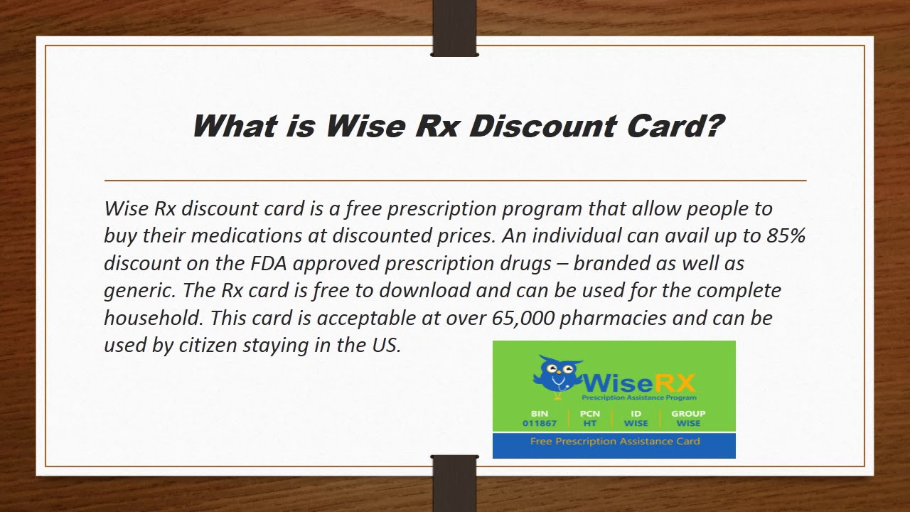 How to Use Wiserx Discount Card?
