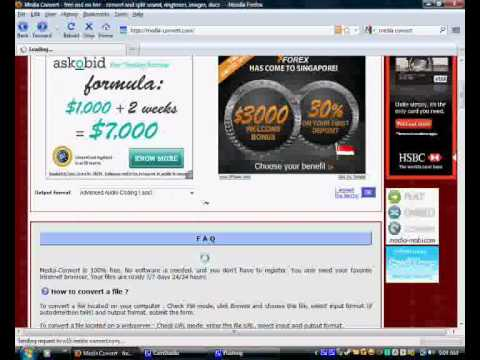 how to convert mp3 to aac (Nintendo DSi).wmv