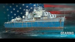4040 чистого опыта на американском эсминце 10 уровня - Gearing