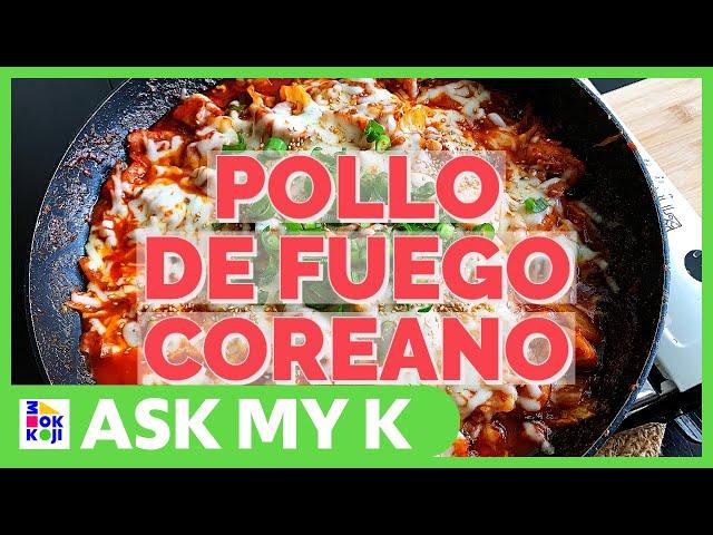 Ask My K : Las Coreanitas - KOREAN FIRE CHICKEN Topped with Mozzarella Cheese Recipe