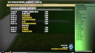 2014 Texas HS Football Class 6A Schedule Release Show