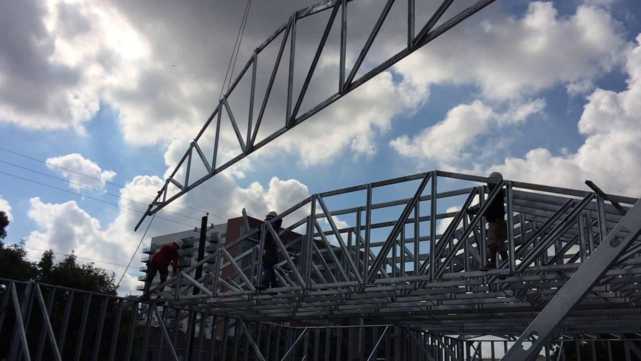 Aep 2016 Light Gauge Steel Roof Truss Installation