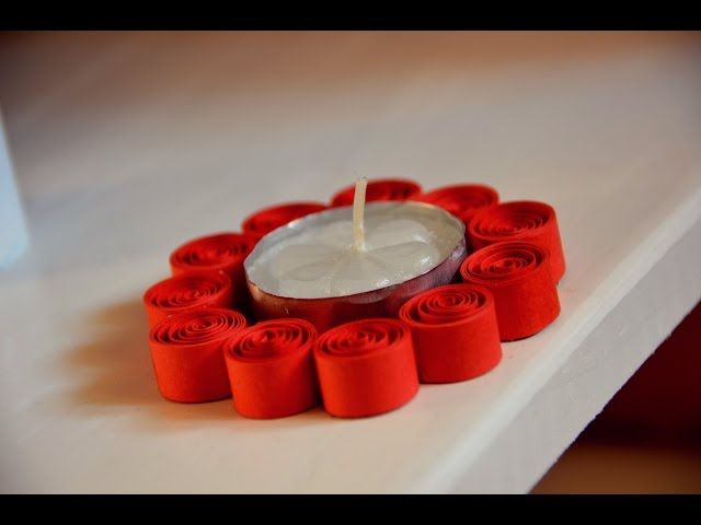 DIY Paper Quilling Candle Holder - Easy and Simple Pattern