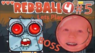 Играем в игру Red ball 4 Красный мяч Часть #5 КОНЕЦ, The End! ГЛАВНЫЙ БОСС!