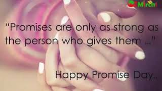 Promise day 2019 Whatsapp status....