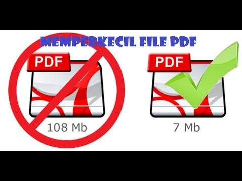 Cara Memperkecil Ukuran File Pdf Youtube