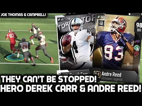 HERO DEREK CARR & ANDRE REED ARE ON ANOTHER LEVEL! Madden 18 Ultimate Team