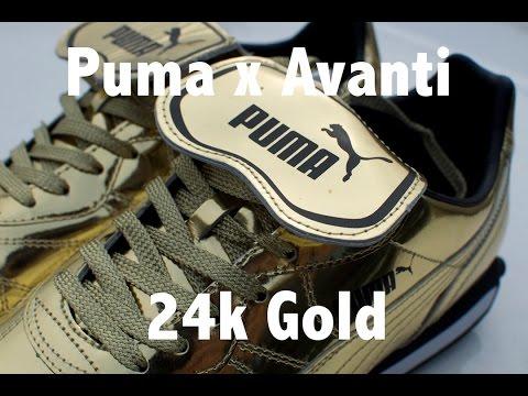 puma avanti x 24k gold