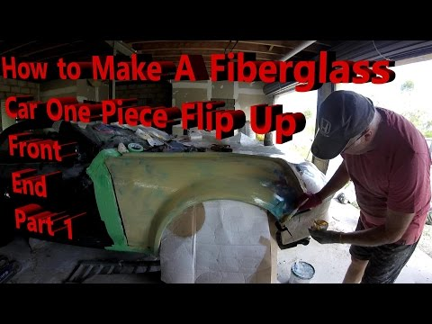How to Make a Fiberglass Car One Piece Flip Up Front End - P