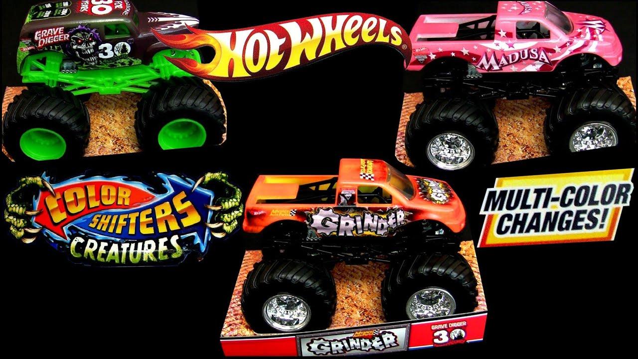hot wheels color shifters cars trucks monster jam mattel how to demo mattel colour changers youtube