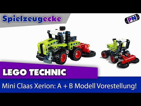 LEGO® TECHNIC 42102 Mini Claas Xerion: A + B Modell Vorstellung
