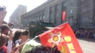 проезд военной техники 9 мая 2015 года на метро Динамо
