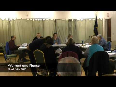 Warrant and Finance - 03-14-2016