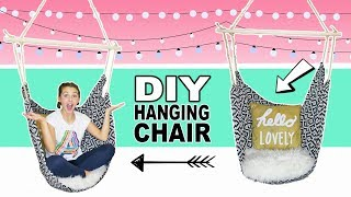How To Make A Hanging Chair | DIY Bedroom Decor Ideas