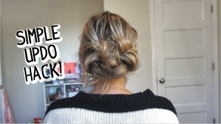 EASIER THAN IT LOOKS EVERYDAY UPDO! For Short, Medium, and Long Hair!