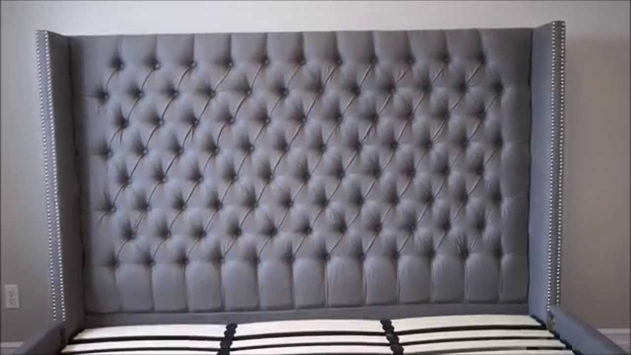 Upholstered Tufted Headboard and Bed Versailles bed