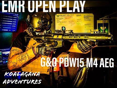 EMR OPEN PLAY APRIL 14TH (G&G PDW15 M4 CQB AEG RIFLE)