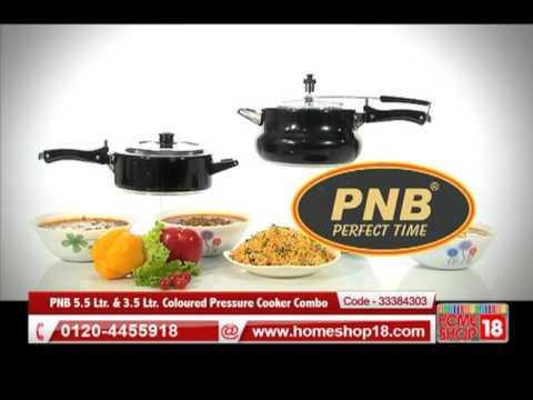 d1a3d3d4f10 Homeshop18.com - PNB 5.5 Ltr.   3.5 Ltr. Coloured Pressure Cooker Combo