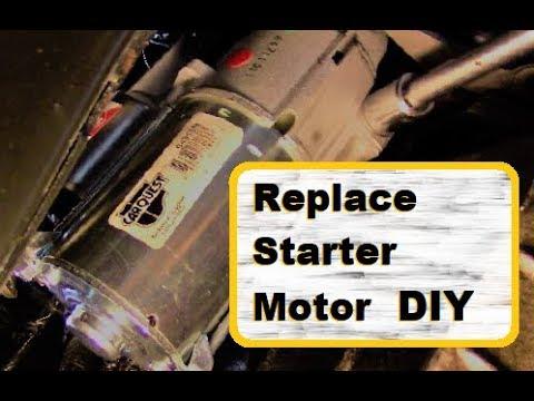 How To Install A Starter Motor GM 3.4L V6 Silhouette Venture Montana Alero Grand Am Rendezvous