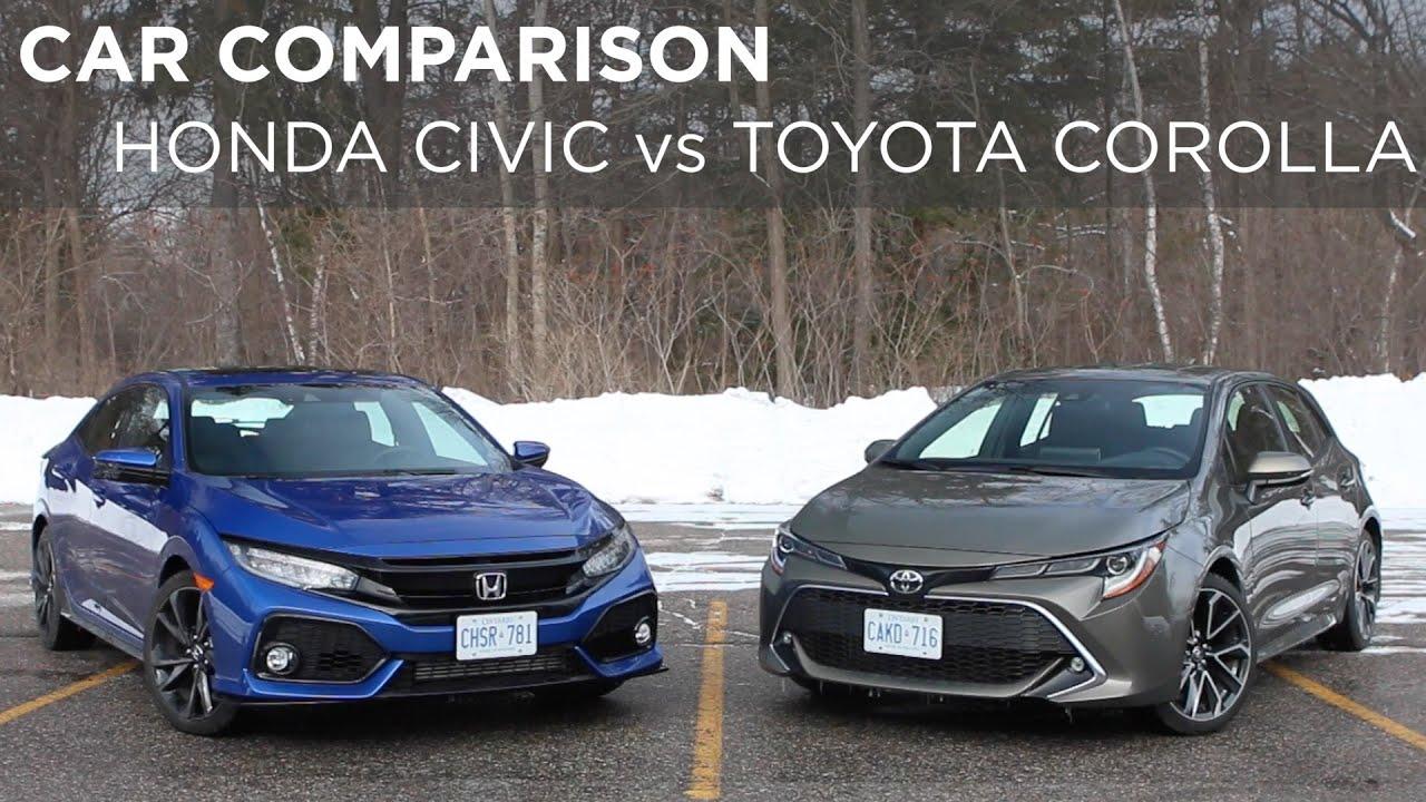 Civic Vs Corolla >> Honda Civic Vs Toyota Corolla Car Comparison Driving Ca