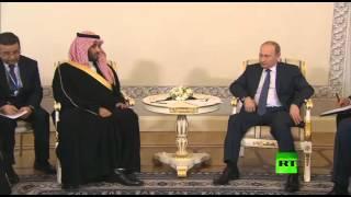 الرئيس الروسي فلاديمير بوتين يلتقي وزير الدفاع السعودي محمد بن سلمان في سان بطرسبورغ