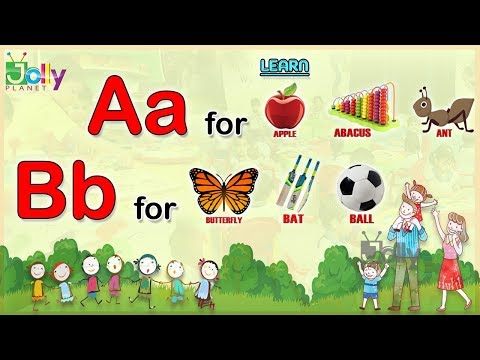 A to Z Alphabets With Spellings For kids  Phonics Song with Three Words Learn English Words For Kids