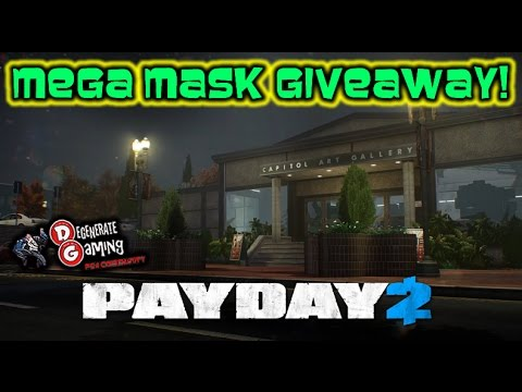 how to get a payday 2 mask code