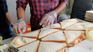 Mumbai's Famous Grilled Sandwich | Cheese Grilled Sandwich | Indian Street Food