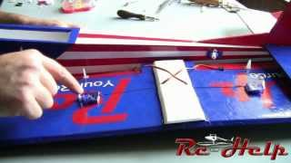 Rc-help Trainer Build Pt. 6 Installing The Motor & Servos