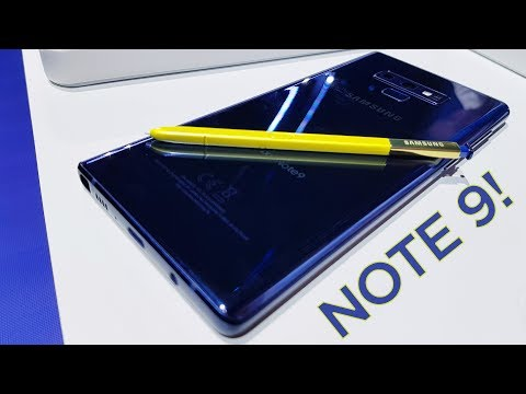 HANDS ON SAMSUNG GALAXY NOTE9! UNPACKED!