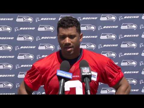 Seahawks Quarterback Russell Wilson OTAs Press Conference