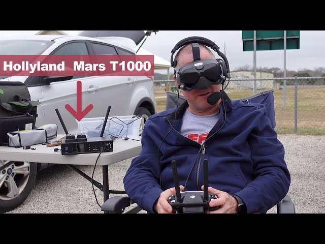 Wireless Communication While Flying Drones - Hollyland Mars T1000