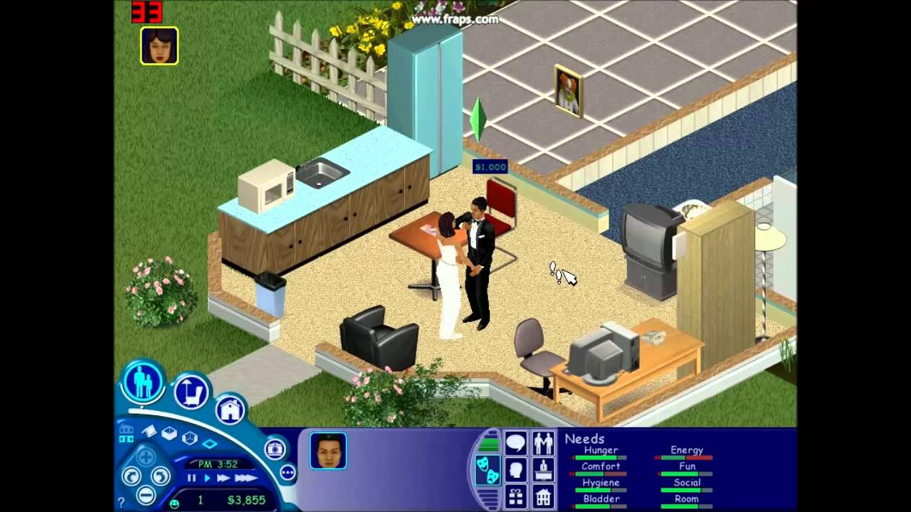 the sims 1 getting married youtube. Black Bedroom Furniture Sets. Home Design Ideas