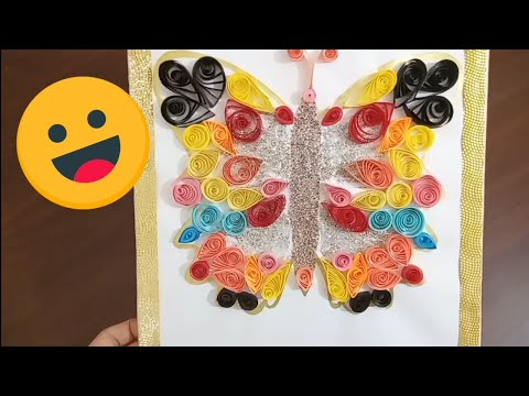 Beautiful Wall hanging Quilling butterfly| New Unique DIYs