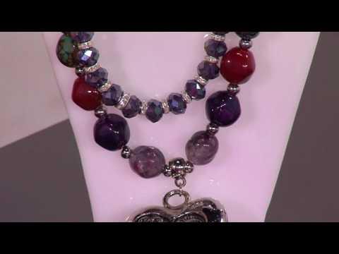 56ca3652aba4 Como Hacer Collar en Ensamble con Piedras y Cristales- HogarTv por Juan  Gonzalo Angel. YOUTUBE