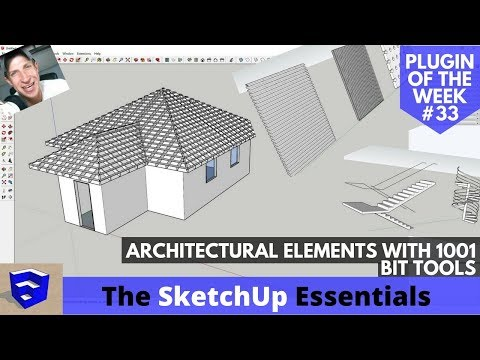 Modeling Architectural Elements in SketchUp with 1001Bit