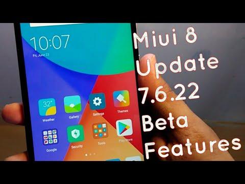 Miui 8 Update 7.6.22 Beta Developer Weekly Features | Hindi