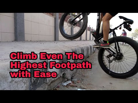 How To Climb Over Stuff | Must Learn Trick for Cyclists| Jump Hop Bicycle on Footpath Easily