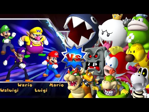 Mario Party 9 - Boss Rush Challenge - All Boss Battles (Master Difficulty)