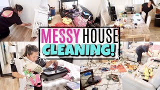 MESSY HOUSE! COMPLETE DISASTER ULTIMATE CLEAN WITH ME with MUSIC | ALL DAY EXTREME MOTIVATION