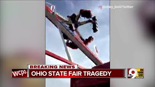 Ohio State Fair ride breaks mid-swing, killing 1 and hurting 7